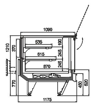 Kühlvitrinen Missouri cold diamond MC 115 patisserie PS 121-DLM