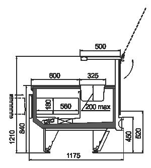 Kühlvitrinen Missouri cold diamond MC 115 pizza PS 121-DBM/DBA