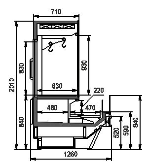 Холодильная витрина Missouri Cold Diamond MC 126 crystal combi 2 S/self 200-D/DBM / S/DBA