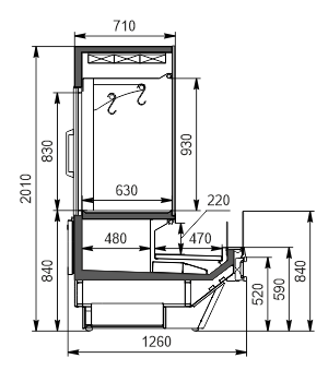 Холодильна вітрина Missouri cold diamond MC 126 crystal combi 2 S/self 200-D/DBM / S/DBA