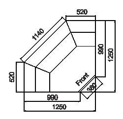 Kühlvitrinen Missouri MC 100 deli PP/PS/self 130/093-DBM/DBA-IS90