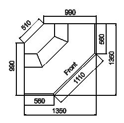Kühlvitrinen Missouri MC 100 deli PP/PS/self 130/093-DLM/DLA-ES90