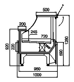 Kühlvitrinen Missouri MC 100 deli PS 130-DBM/DBA