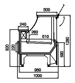 Kühlvitrinen Missouri MC 100 deli PS 130-SBM/SBA