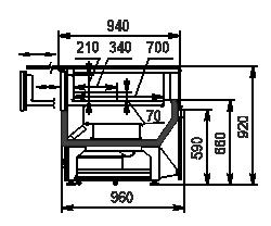 Kuhlvitrinen Missouri MC 100 patisserie СН SP 092-DLA