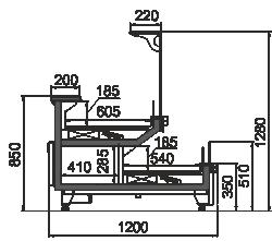 Kühlvitrinen Missouri MC 120 combi L/self 130-D/DBM