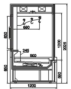 Kühlvitrinen Missouri MC 120 crystal S 203-D/DLM / D/DLA