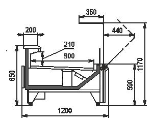 Холодильная витрина Missouri MC 120 deli OS 120-DBM