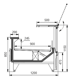 Холодильна вітрина Missouri MC 120 deli PS 115-DBM