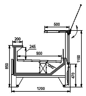 Kühlvitrinen Missouri MC 120 deli PS 115-DBM