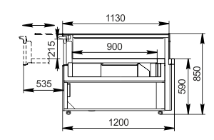 Kühlvitrinen Missouri MC 120 patisserie СН SP 090-DLM