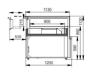 Counter Missouri MC 120 patisserie СН SP 090-DLM/DLA