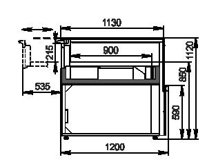 Вітрини Missouri MC 120 patisserie СН SP 110-DLM/DLA
