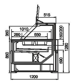 Kühlvitrinen Missouri MC 120 salads PP 130-DBM
