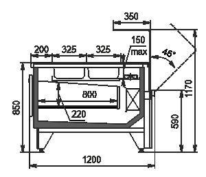 Холодильна вітрина Missouri MC 120 salads OS 120-DBM