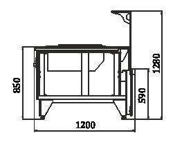 Витрины Мissouri NC 120 cauldron L 130