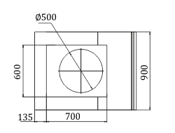 Витрины Мissouri NC 120 cauldron L/self 130/086