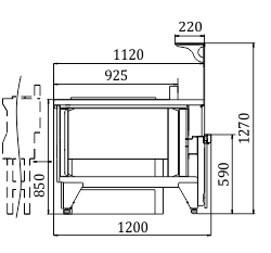 Витрины Мissouri NC 120 cauldron L 2 130