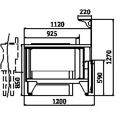 Вітрини Мissouri NC 120 cauldron L 2 130