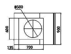 Вітрини Мissouri NC 120 cauldron L/self 130/086