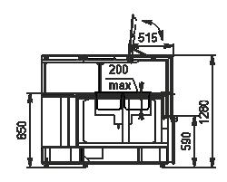 Wärme-Vitrine Missouri NC 120 heat BM PP 130 ES90