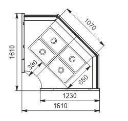 Тепловая витрина Missouri NC 120 heat BM PP/PS 130 ES90