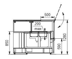 Тепловая витрина Missouri NC 120 heat BM PS 130 ES90