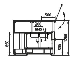 Wärme-Vitrine Missouri NC 120 heat BM PS 130 ES90
