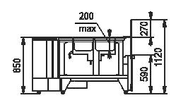 Тепловая витрина Missouri NC 120 heat BM self 112 ES90