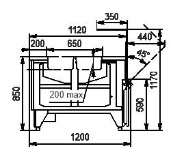 Wärme-Vitrine Missouri NC 120 heat DS OS 120
