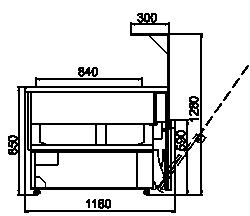 Kühlvitrinen Missouri NC 120 heat HT OS 130