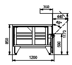 Kühlvitrinen Missouri NC 120 OS 120