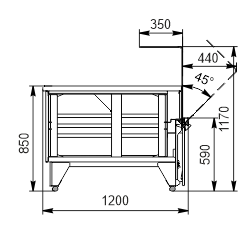 Витрина Missouri NC 120 OS 120