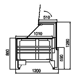 Kühlvitrinen Missouri NC 120 PP 130