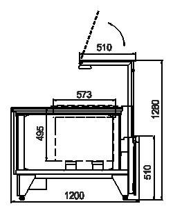 Kühlvitrinen Мissouri NC 120 RT PP 130