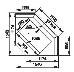 Kühlvitrinen Мissouri NC 120 RT PP 130 ES90