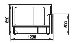 Kühlvitrinen Missouri NC 120 Self 085 ES90