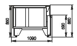 Kühlvitrinen Missouri NC 120 self 086-ES45