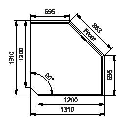 Угловой элемент Missouri NC 120 self 092-ES90