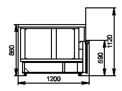 Kühlvitrinen Missouri NC 120 Self 110 ES90