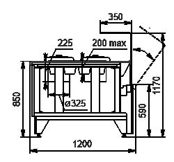 Kühlvitrinen Missouri NC 120 tureen OS 120