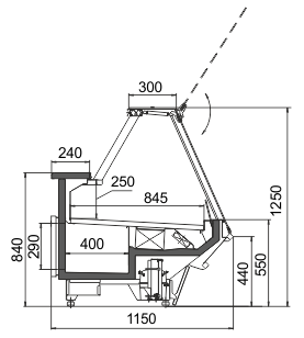 Kühlvitrinen Missouri sapphire AK 115 deli PS 125-DBA