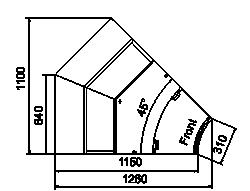 Kühlvitrinen Missouri sapphire AK 115 deli PS/self 125/084-DLA-IR45