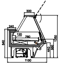 Kühlvitrinen Missouri sapphire AK 115 LT PS 125-DLA