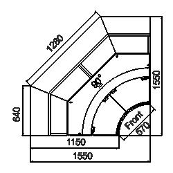 Kühlvitrinen Missouri sapphire MK 115 deli PS/OS/self 125/084-DLM-IR90 125-DLM-IR90