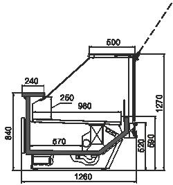 Kühlvitrinen Missouri сold diamond MC 126 deli PS 130-DBM