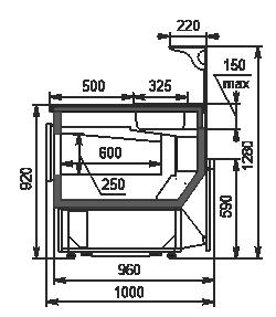 Refrigerated counters Missouri MC 100 sushi/pizza L 130-DBM/DBA