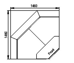 Winkelelemente von Kühlvitrinen Missouri MC 120 deli OS 120-DLM-IS90