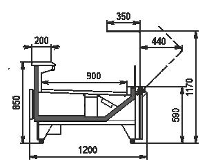 Refrigerated counters Missouri MC 120 deli OS 120-DBM