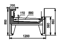 Refrigerated counters Missouri MC 120 fish self 086-SLM/SLA